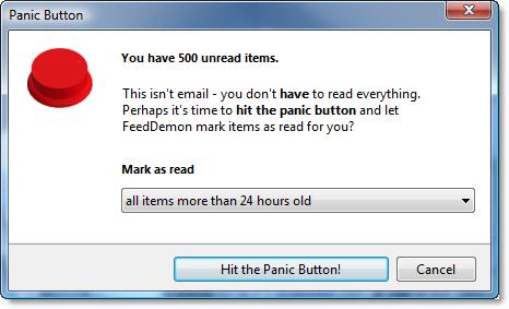 FeedDemon's panic button
