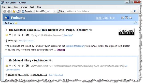 Nick Bradbury: Downloading Podcasts with FeedDemon